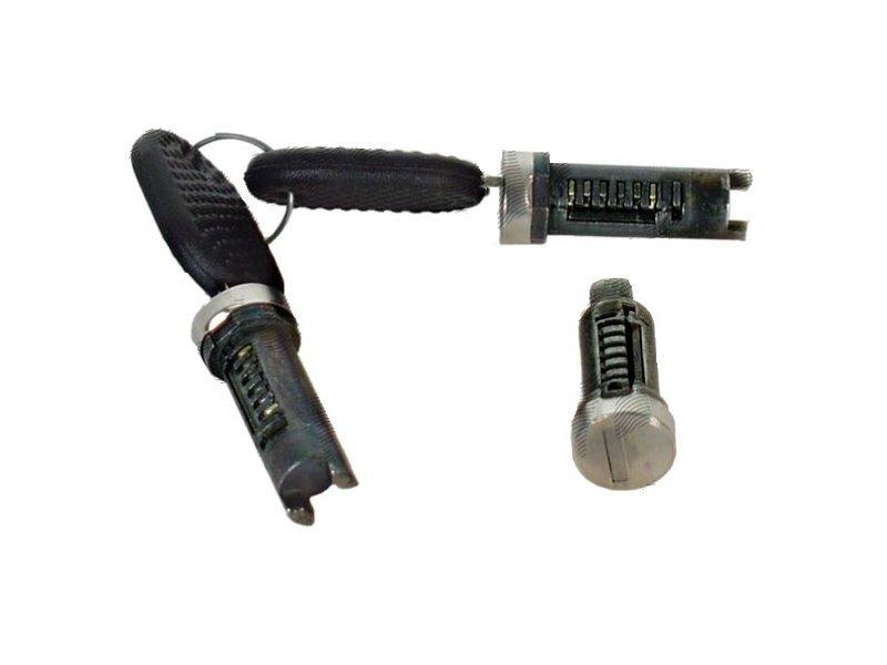 Set yale inchidere Fiat Cinquecento (170), 1991-1998, cu chei, cu 2 butuci blocare usa, stanga/dreapta, fata, cu apasare eliberare buton,