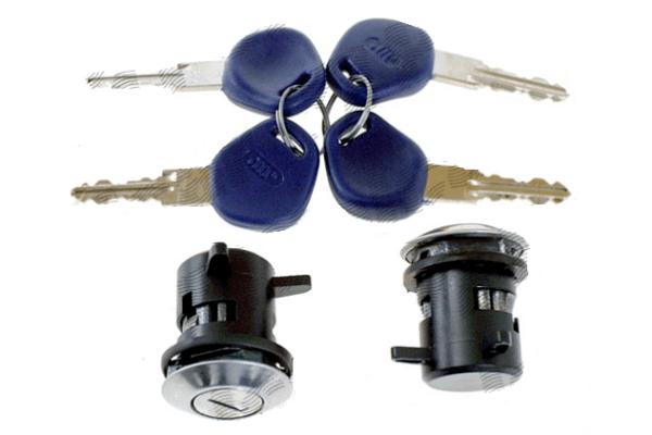 Set yale inchidere Fiat Punto 1 (176), 1993-1999, cu chei, cu 2 butuci blocare usa, stanga/dreapta,