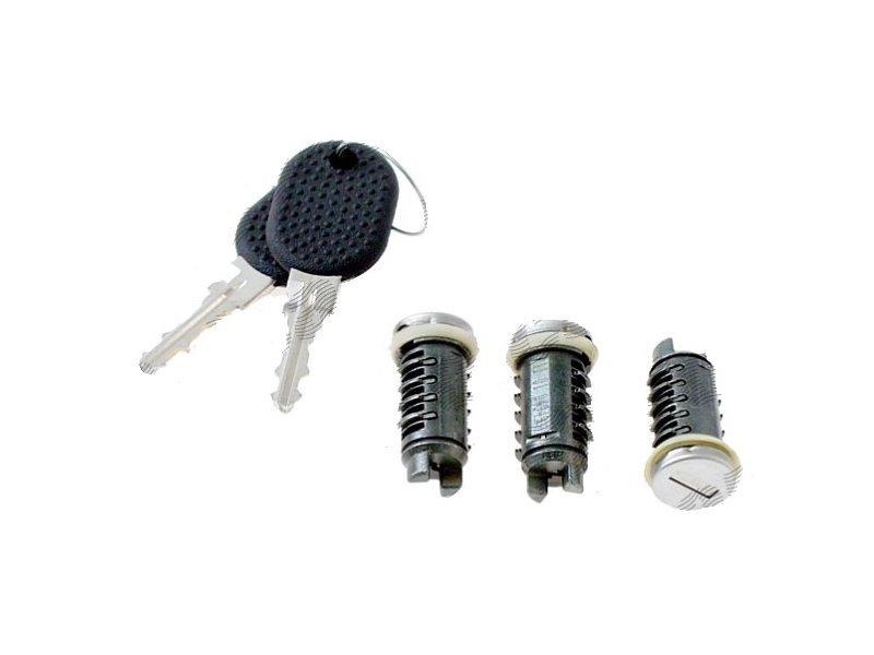 Set yale inchidere Fiat Bravo/Brava (182), 1995-10.01, Marea (185), 09.96-06.2002, Multipla (186), 05-10, Fiat Multipla (186), 1999-2010 cu chei, cu 2 butuci blocare usa, stanga/dreapta, cu apasare eliberare buton,