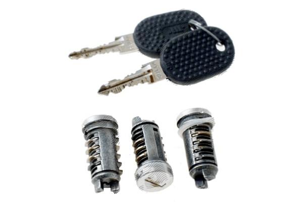 Set yale inchidere Fiat Tempra (159) Sedan/Combi, 01.1990-08.96, Fiat Tipo (160), 08.88-05.95, cu chei, cu 2 butuci blocare usa, cu apasare eliberare buton,