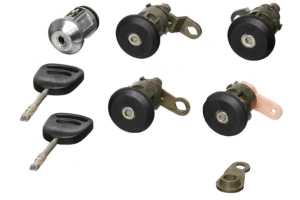Set yale inchidere Ford Transit (Ve83), 1996-2000, cu chei, cu 2 usi cilindru de blocare, cu cilindru contact pornire