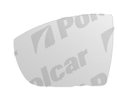 Geam oglinda Ford C-Max, 11.2010-2017, Galaxy (Wa6) 2006-2015, Kuga (Dm2), 03.2008-03.2013, S-Max (Wa6), 05.2006-12.2015, Stanga, Crom, Fara incalzire, Convex, Aftermarket 3280542E