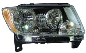 Far Jeep Grand Cherokee (Wk2), 04.2013-, Manual, tip bec H11+HB3, omologare SAE, 68110996AA; 68110996AB; 68110996AC, Dreapta, marca TYC