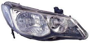 Far Honda Civic Sedan 10.2005-12.2011 DEPO partea Dreapta cu bec HB3+HB4, culoare negru, reglaj manual
