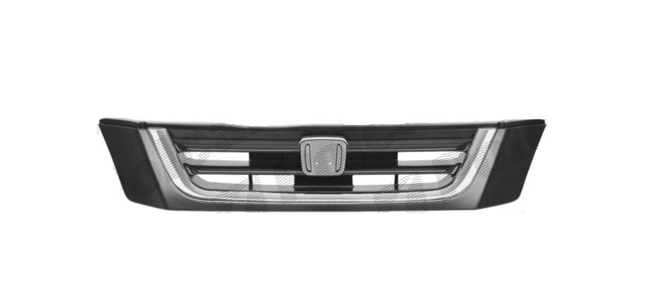 Grila radiator Honda CRV (Rd), 10.1995-12.2001, 75100S10000ZC, 387505-0 cu ornament cromat