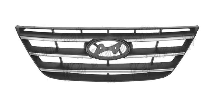 Grila radiator Hyundai Sonata, 04.2008-, crom/negru, 863503K600, 402705