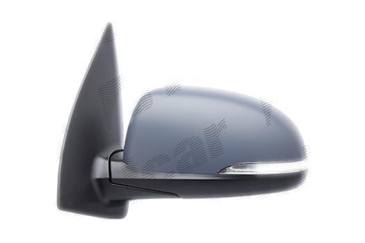 Oglinda exterioara Hyundai I10 (Pa), 04.2011-12.2013, partea Dreapta, culoare sticla crom , sticla convexa, cu carcasa grunduita, cu incalzire, ajustare electrica, 08620-0X500