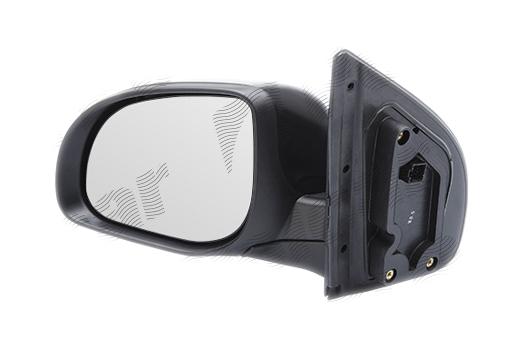 Oglinda exterioara Hyundai I20 (Pb), 07.2012-12.2014, partea Dreapta, culoare sticla crom , sticla convexa, cu carcasa neagra, cu incalzire, ajustare electrica,