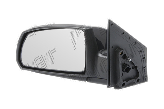 Oglinda exterioara Kia Rio (De), 01.05-2009.2011, partea Stanga, culoare sticla crom , sticla convexa, cu carcasa neagra, cu incalzire, ajustare electrica,