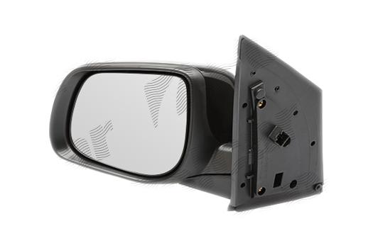 Oglinda exterioara Kia Picanto (Ta), 06.2011-, partea Stanga, culoare sticla crom , sticla convexa, cu carcasa grunduita, cu incalzire, ajustare electrica,