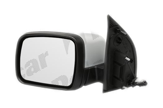 Oglinda exterioara Land Rover Freelander (Fa), 11.2006-, partea Stanga, culoare sticla crom , sticla convexa, cu carcasa grunduita, cu incalzire, ajustare electrica,