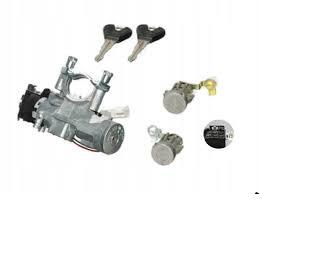 Set yale inchidere Mazda 323 (Bh), 1995-12.1998, Mazda 323 P (Ba), 1995-12.2000, cu chei, cu 2 butuci blocare usa, cu contact pornire