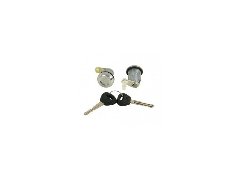 Set yale inchidere Mazda 323 (Bd) 1983-1985, Mazda 626 (Gc), 1980-12.1987, cu chei, cu 2 butuci blocare usa, stanga/dreapta, fata, BE32-76-210/220,