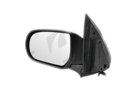 Oglinda exterioara Mazda Tribute (J14), 01.2001-2004, partea Stanga, culoare sticla crom , sticla convexa, cu carcasa neagra, ajustare electrica, EC0169180E
