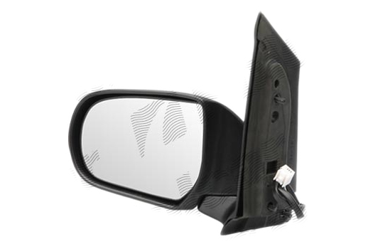 Oglinda exterioara Mazda Mpv (Lw), 06.1999-05.2004, partea Stanga, culoare sticla crom, cu carcasa neagra, ajustare electrica, LD4769180