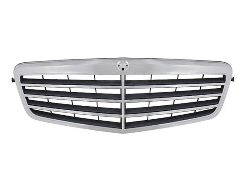 Grila radiator Mercedes Clasa E (W212) Sedan/Combi, 09.2009-02.2013, crom/gri, 21288005839775, 501805-1