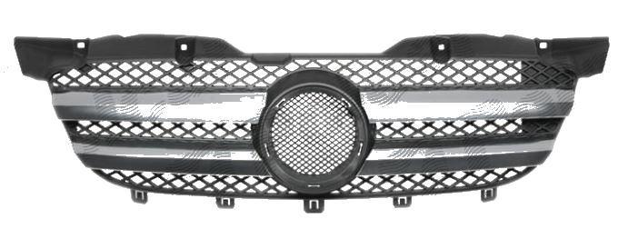 Grila radiator Mercedes Sprinter 209-524, 07.2006-10.2013, crom/negru, 506505-1, grila masca intre faruri