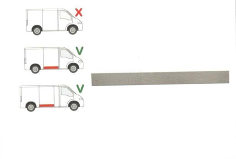 Panou reparatie usa Citroen JUMPER (230), 06.1994-08.2006, Fiat DUCATO (230), 03.1994-09.2006, Peugeot BOXER (230), 06.1994-08.2006 partea dreapta, lungime 1385, inaltime 120 mm; inferior ; usa culisanta, pt modele Mijlociu/Lung,