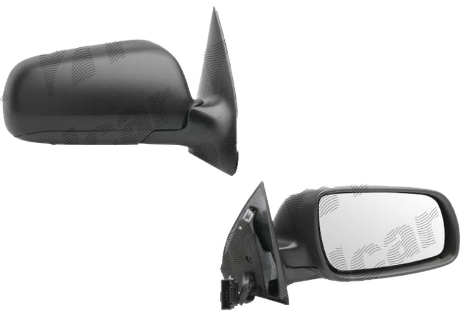 Oglinda exterioara Skoda Fabia (6Y) 04.2000-03.2006 Partea Dreapta Crom Convex Electrica Cu Incalzire, cu primer, Model MARE, conector rectangular