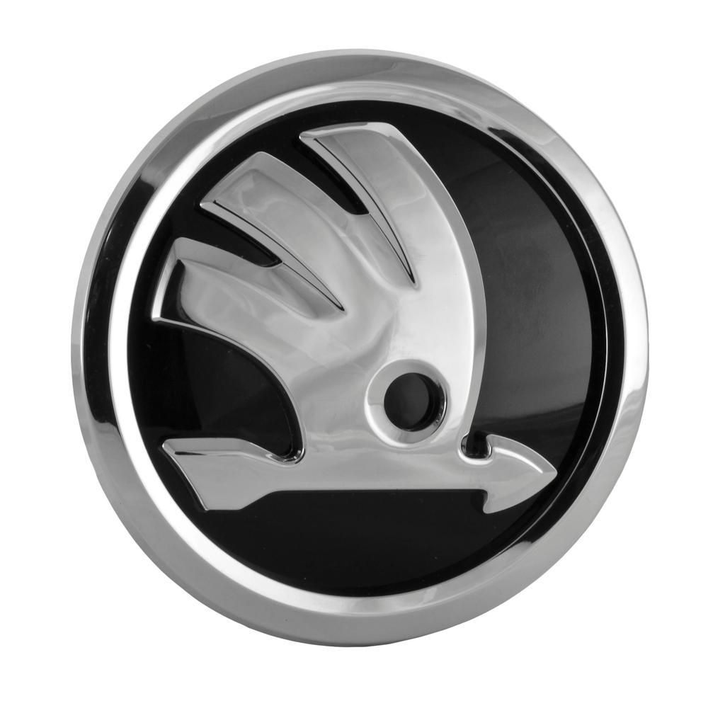 Emblema fata , LOGO Skoda Octavia 3 (5e), 01.2013-05.2017, Octavia 3 (5e), 03.2017-, Fabia, 12.2014-, Superb (3t), 06.2013-07.2015; Superb (3v), 05.2015-; Yeti (5l), 09.2013-, Rapid (Nh), 10.2012-, fata, original