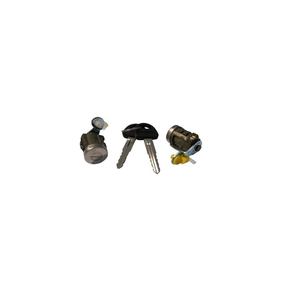 Set yale inchidere Suzuki Vitara (Et/Ta), 1988-1995, 3-5 Usi, cu chei, cu 2 butuci blocare usa, stanga/dreapta, fata, 82200-60830 + 82200-60840; 82200-60830/40,