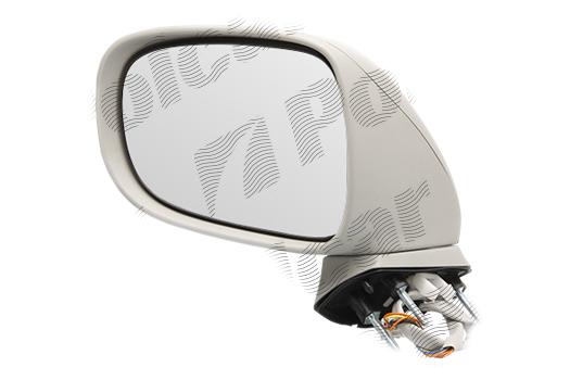 Oglinda exterioara Lexus Is (Xe2), 11.2005-03.2009, partea Stanga, culoare sticla crom, sticla convexa, cu carcasa neagra grunduita, cu incalzire , ajustare electrica, 879405323D; 87940-5323D