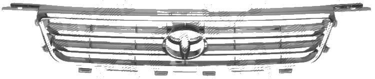 Grila radiator Toyota Camry (Sxv20/Mcv20), 01.1999-11.2001, crom/gri, 53111AA020, 813605