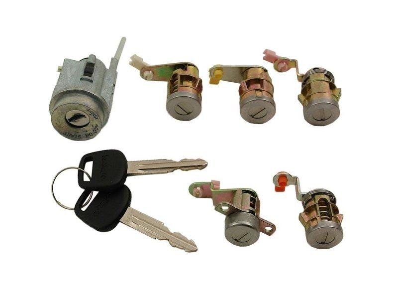 Set yale inchidere Toyota HI-ACE (Granvia), 1996-01.2006, cu chei, cu 5 butuci blocare usa, cu blocare aprindere, fata/spate/lateral, 69503-26240, Model VAN