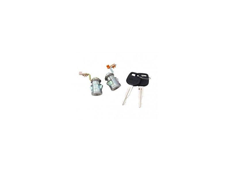 Set yale inchidere Toyota HI-ACE (Granvia), 1996-01.2006, cu chei, cu 2 butuci blocare usa, fata, stanga/dreapta, 69051/2-26030, Model VAN