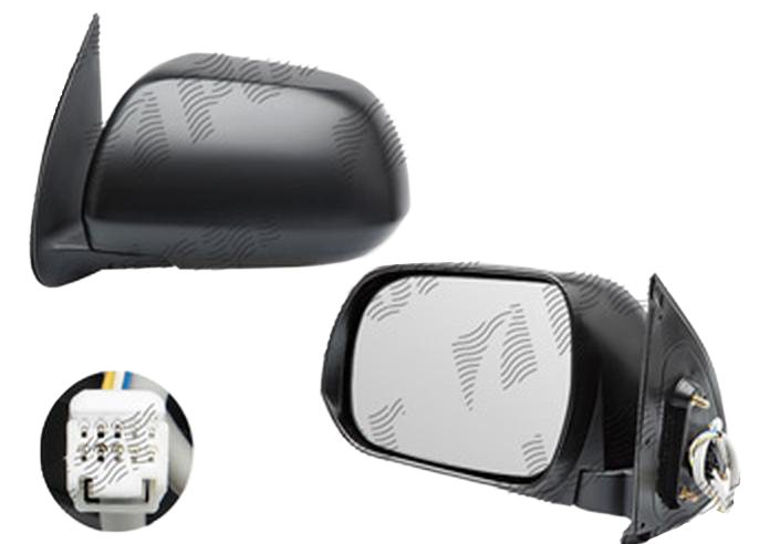 Oglinda exterioara Toyota Hilux (N70), 01.2012-, partea Stanga, culoare sticla crom, sticla convexa, cu carcasa neagra, ajustare electrica, , 81P1513E