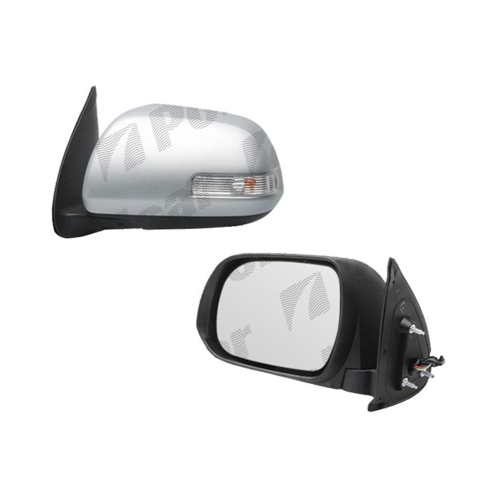 Oglinda exterioara Toyota Hilux 2012-06.2016 Partea Stanga Crom Convex Electrica Fara Incalzire, cu semnalizare, carcasa grunduita