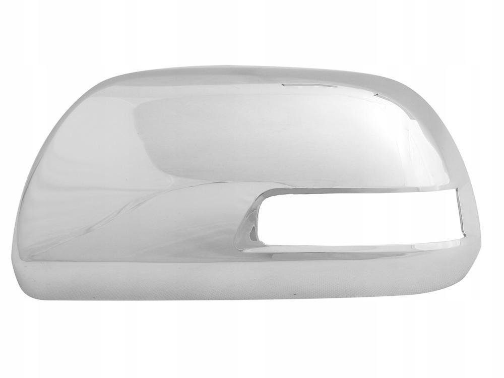 Carcasa oglinda exterioara Toyota Hilux (N70), 01.2012-, partea Stanga , culoare sticla, cu carcasa cromata,