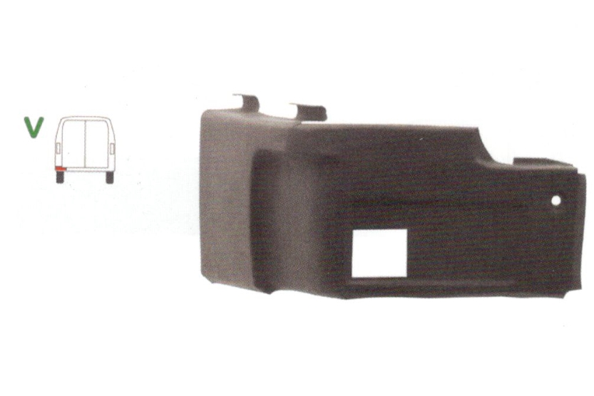 Colt panou spate Vw Lt28/31/35 1975-04.1996 , partea Spate Stanga, Inferior,