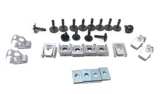 Set cleme fixare scut motor Audi A4, S4 (B8), 11- Aftermarket RX90238