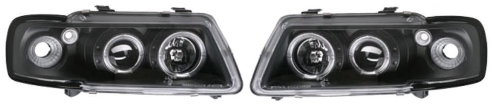 Set Faruri tuning Audi A3 8L 1996-2003 Aftermarket fata stanga-dreapta 132309BE fumuriu negru