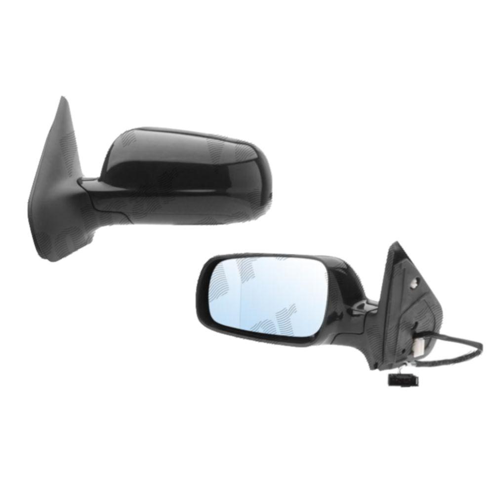 Oglinda exterioara Voyager (Gs/Ns), 01.1996-12.1999, Dodge Caravan (Gs/Ns) 1996-2000, Stanga, Crom, manuala,prin cablu, Fara incalzire, carcasa neagra, Plana, Aftermarket 4675577,4675577AB 2401513S