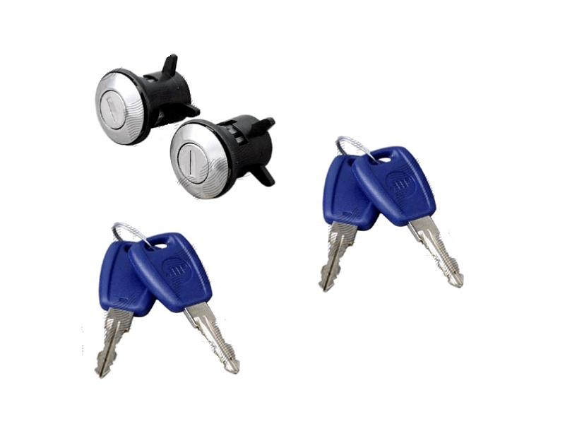 Set yale inchidere Fiat Seicento (187), 1998-11.2010, cu chei, cu 2 butuci blocare usa, stanga/dreapta,