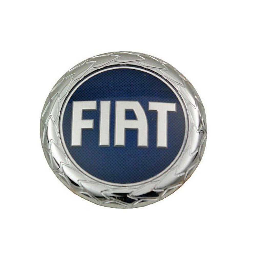 Emblema Logo Fiat BARCHETTA (183), 95-05, DOBLO (119/223), 2006-2010, IDEA (350), 04-11, PANDA (169), 03-12, PUNTO GRANDE (199) 05-12, partea spate, originAL (Automotive Lighting)