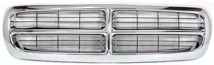 Grila radiator Dodge Dakota, 01.1997-12.2004 Dodge Durango 01.1997-01.2004, crom/negru, 55056092, 316005