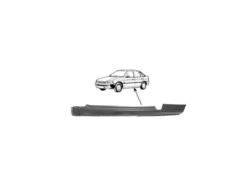 Prag Ford Escort 3-Usi (Gal/Aal/Abl/All/Afl)Hb Sedan 01.1995-02.1999 Ford Escort 3-Usi (Gal/All/Avl)/Orion + Combi/Van 07.1990-12.1994 Stanga , prag din metal