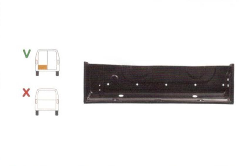 Element reparatie usa Ford TRANSIT (VE6/VE64/VE83), 10.1985-07.2000 pt modele cu 2 usi spate, partea stanga, parte inferioara,with gasket gutter and rivet nuts,jgheab; usa spate,