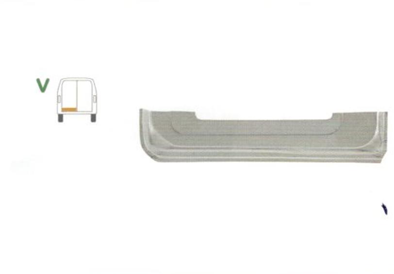 Element reparatie usa ford TRANSIT (V184/5), 05.2000-2006 , Transit/Tourneo (V347/8) 05.2006-04.2013 pt modele cu 2 usi spate, partea stanga, parte inferioara, usa spate , jgheab,