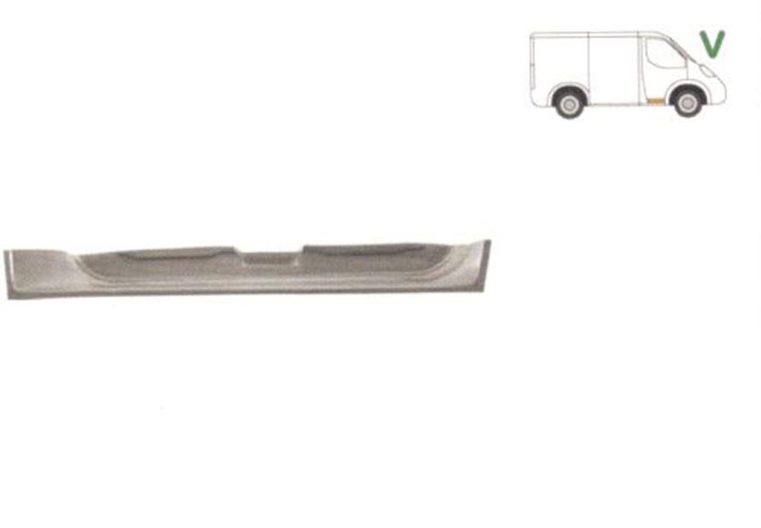 Element reparatie usa Mercedes Vito W638 1996-2003, segment portiera fata dreapta, partea de jos