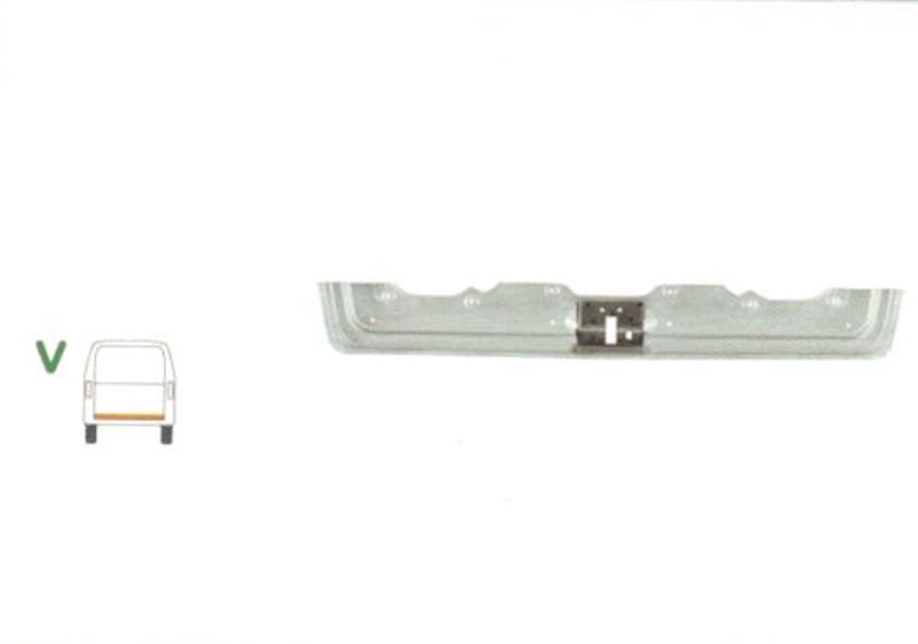 Element reparatie usa Mercedes VITO / Clasa V (W638), 02.1996-2003, partea , cu intaritura, usa spate, jgheab, haion,