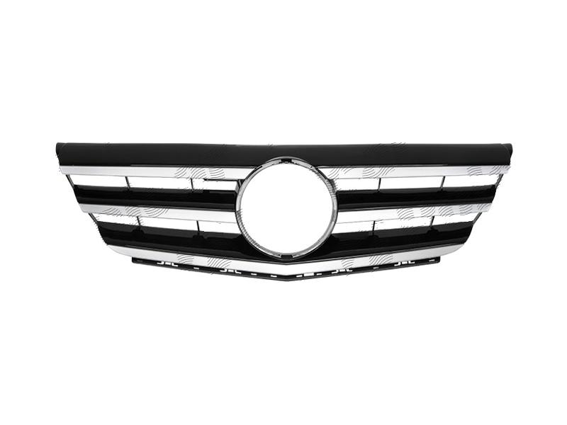 Grila radiator Mercedes Clasa B (W245), 2009-06.2011, crom/negru, 503505-2
