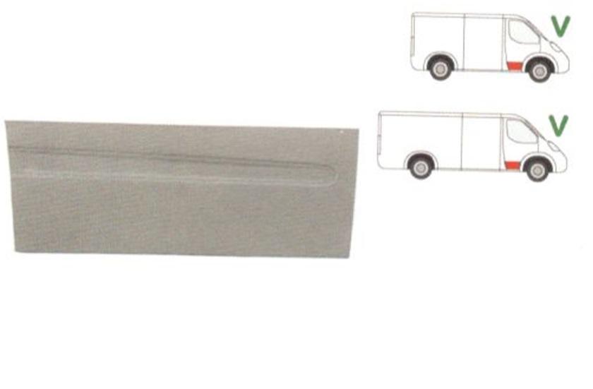 Panou reparatie usa Mercedes Vito, Viano W639 2003-2010, partea de jos, inaltime 325mm, partea dreapta (MODEL SCURT/LUNG)