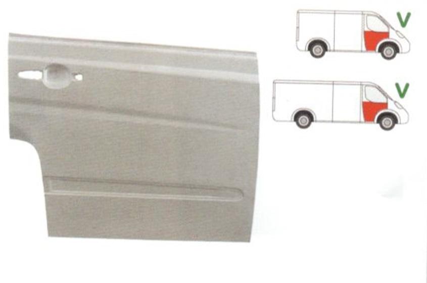 Element reparatie usa Mercedes VITO/ VIANO (W639), 01.2003-2014, partea dreapta, usa fata, pana la geam,