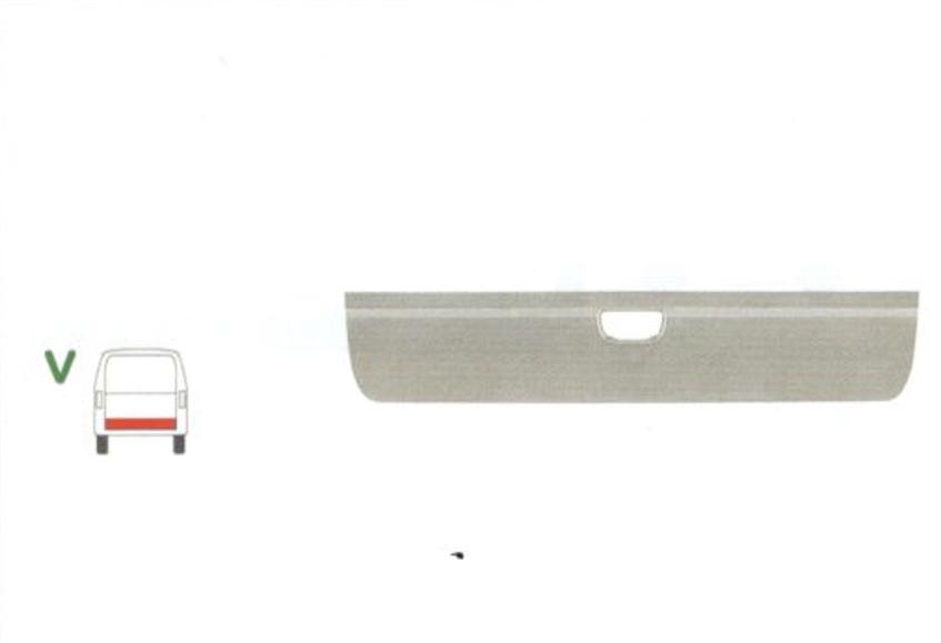 Element reparatie usa Mercedes VITO/ VIANO (W639), 01.2003-10.2010, partea , usa spate ; haion,inaltime 295 mm, parte inferioara,