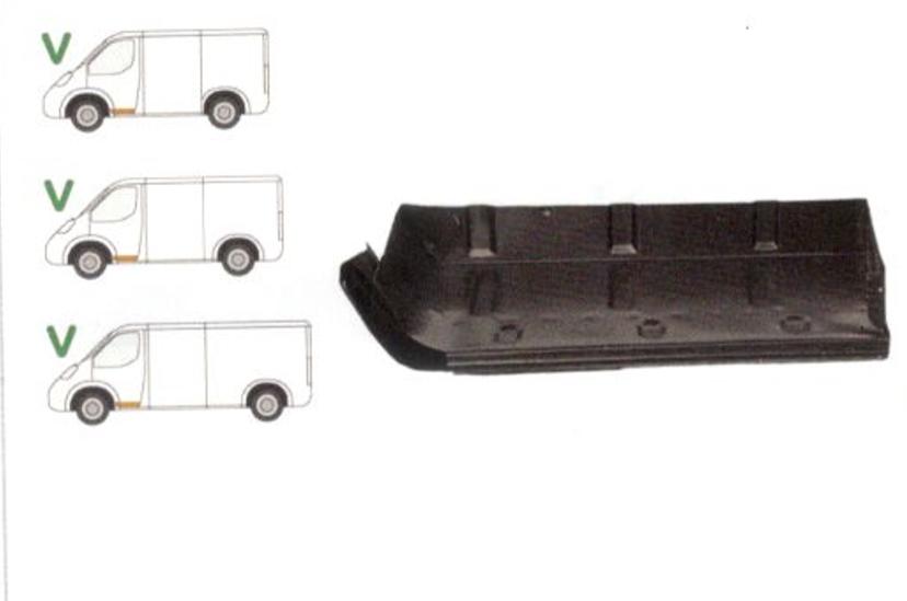 Treapta usa Mercedes 207-410 1977-1995 Model Scurt/Mijlociu/Lung , partea Fata Stanga, Mic,