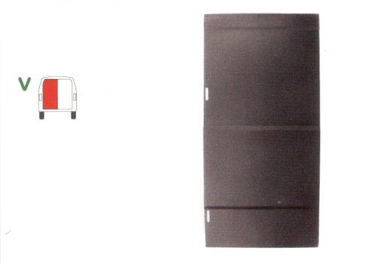 Element reparatie usa Mercedes 207-410, 1977-1995 (pt modele cu 2 usi spate), partea stanga, usa spate, fara geam,
